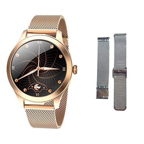 JXFF KW10PRO Smart Watch Ladies Contacto Completo Pulsera Monitor De Ritmo Cardíaco Monitoreo del Sueño Smartwatch Ladies KW10 Pro Es Adecuado para Android Y iOS,G