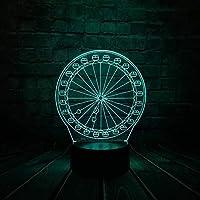 3D Ledランプキッズナイトライト7色変更タッチリモート装飾照明キッズ用Usbケーブル付きキッズギフト