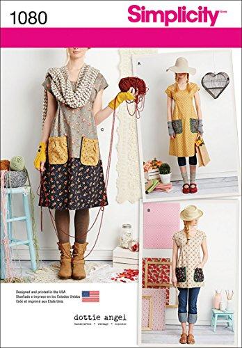 Simplicity Pattern 1080 Misses#039 Dress or Tunic by Dottie Angel Size A XSSMLXL