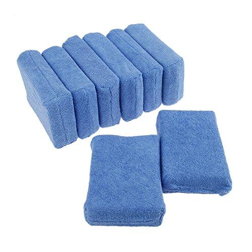 8個入り ポリッシャー バフ スポンジバフ ワックススポンジ 洗車用 研磨パッド カーワックス 研磨用 極細繊維