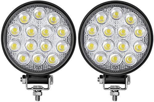 Luz de trabajo de conducción LED 4.5 'Luces de parachoques de techo LED Luces de trabajo de inundación Lámpara antiniebla para camión Barco SUV Coche
