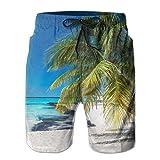 Shorts de Playa para Hombre de Secado rápido Las Mejores Playas de Cancún Bañadores Traje de baño Shorts de Playa Traje de baño, Talla L