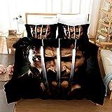 X-Man Bedding Set Bed Set Queen Superhero Wolverine Qulit Cover Duvet Cover Set (No Comforter) for Girls Kids Boys