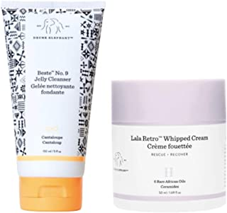 Drunk Elephant Hit It Off Face Wash and Facial Moisturizer Set Beste No. 9 Jelly Cleanser. 150 Milliliters. Lala Retro Whi...