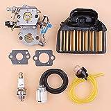 HaoYueDa Kit de reparación de Filtro de Aire de carburador Compatible con Motosierra Husqvarna 455 Rancher 460461 Reemplazo de Zama C1M-EL35 Walbro WTA-29 WTEA-1-1