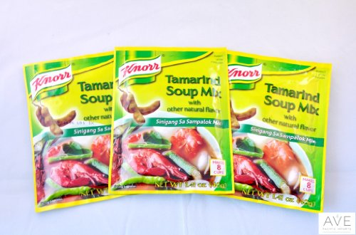 Knorr Tamarind Soup Mix (Sinigang sa Sampalok Mix), 1.41oz (40g) (3)