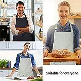 Tonsooze Verstellbare Schürze Kochenschürze mit 2 Taschen, Wasserdicht Küchenschürze Grillschürze Latzschürze für Damen und Männer, 2 Stück, Khaki & Schwarz - 6