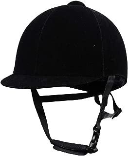 Leoie Unisex Equestrian Helmet Black Riding Helmet Breathable Winter Riding Harness