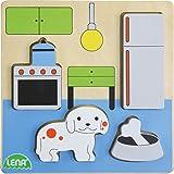 Lena 32141Puzzle de Madera de Cocina, 4Piezas