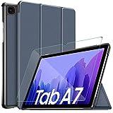 IVSO Funda Compatible con Samsung Galaxy Tab A7, Protector de Pantalla Compatible con Samsung Galaxy Tab A7, Protector Pantalla con Funda para Samsung Galaxy Tab A7 T505/T500/T507 10.4 2020, Azul