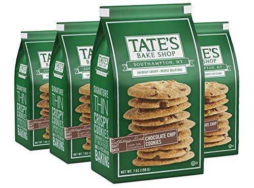 Tate's Bake Shop Thin & Crispy Cookies, Chocolate Chip, 7 Oz, 4Count