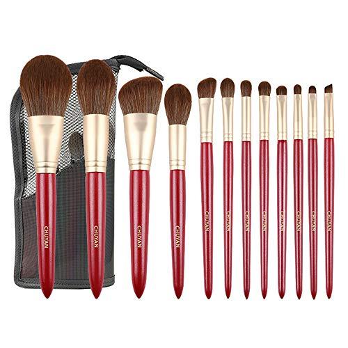 LXC Outil d'application cosmétique 12 pièces - avec Un Sac de Rangement, Une Brosse de Maquillage