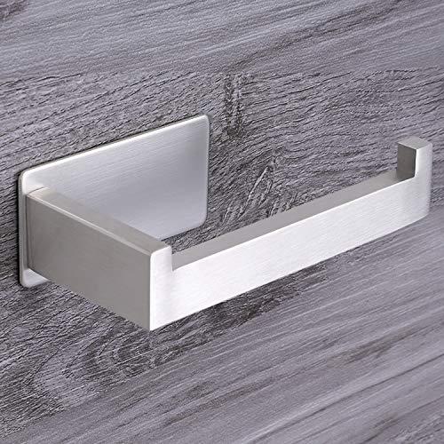 Qeekzeel Toilettenpapierhalter Ohne Bohren, Klopapierrollenhalter Selbstklebend Edelstahl Klopapierhalter Klorollenhalter für Küche und Badzimmer