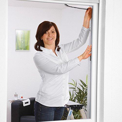 Culex 100190105-CU Polyester-Fliegengitter für Fenster 130x150cm anthrazit