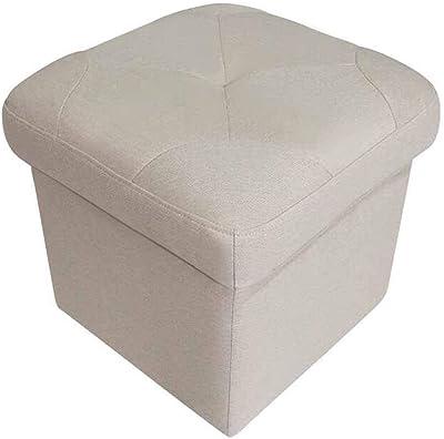 LJFYXZ Taburete de Almacenamiento Multifunción Almacenamiento Puede Sentarse Ropa de algodón Cuadrado 40x40x43cm: Amazon.es: Hogar