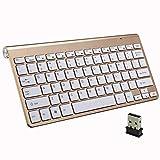 ZHI BEI XXMK Teclado y Mouse - Teclado inalámbrico Mini Teclado USB, Utilizado for PC Notebook TV Capas de Goma de Goma Teclado ergonómico sin Problemas, Hay 3 Colores for Elegir Teclado multifunción