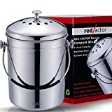 RED FACTOR Deluxe Compostiera da Cucina Inodore in Acciaio Inox - 6...
