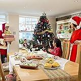 AirSMall Noel Tischläufer Weihnachten Tischdecke Rot Tischband Xmas Tischtuch Tisch Läufer Mitteldecke Leinen tischläufer für Weihnachtsessen Esstisch Kommunion Tischdeko Winter Deko - 5