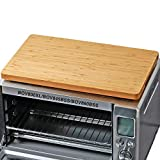 Cutting board for Toaster Smart Oven Pro Air Fryer, Compatible with Breville BOV800XL/845BSS/860BSS, with Heat Resistant Silicone Feet, Creates Storage Room and Protects Cabinets, 17.8x10.8