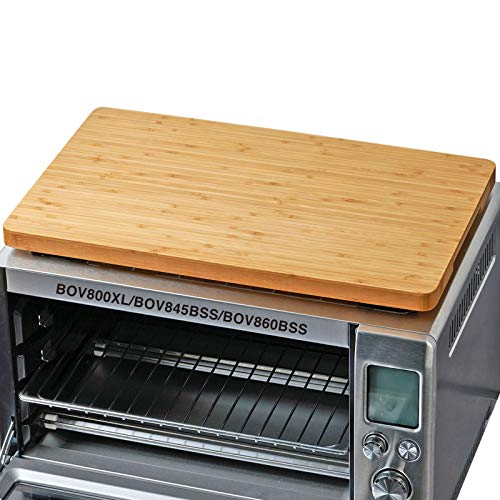 """Cutting board for Toaster Smart Oven Pro Air Fryer, Compatible with Breville BOV800XL/845BSS/860BSS, with Heat Resistant Silicone Feet, Creates Storage Room and Protects Cabinets, 17.8x10.8"""""""