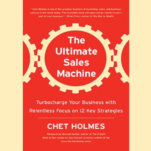 The Ultimate Sales Machine                   By:                                                                                                                                 Chet Holmes                               Narrated by:                                                                                                                                 Anthony Heald                      Length: 9 hrs and 13 mins     1,719 ratings     Overall 4.5