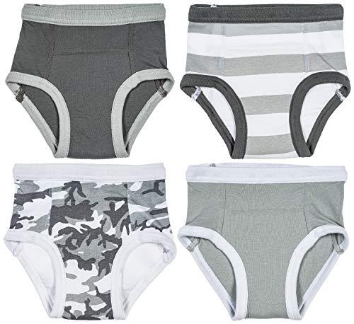 Trimfit Little Boys Cotton Training Pants (Pack of 4 Kids Underwear) Camo