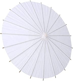 Zerodis White Nature Wedding Paper Umbrella Favor Party Deco