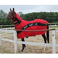冬の馬の毛布綿の馬の毛布厚い暖かい防水性、防水性、防風性、涙の襟、取り外し可能な首