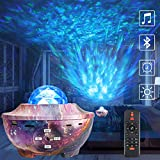 Galaxy Light Projector,ROTEK Star Night Light Ocean Wave Projector with Bluetooth Speaker,Voice Control and Timer,Rotating LED Nebula Cloud Light for Kids Adults Bedroom Decoration Birthday Party Gift