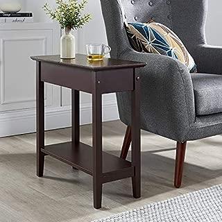 Naomi Home Roxy Flip Top Chairside Table Espresso