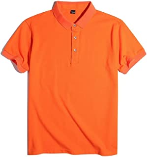 UUGYE Mens Sleeve Short Color Solid Slim Fit Plus Size T-shirts Golf Polo Shirt