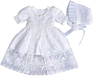 ALLAIBB Baby Princess Dress Baby Baptism Dress Robes Lace Dress Full Moon Wedding Dress