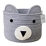 Inwagui Baumwolle Seil Aufbewahrungskorb Süß Bär Korb Faltbar Kinderzimmer Deko