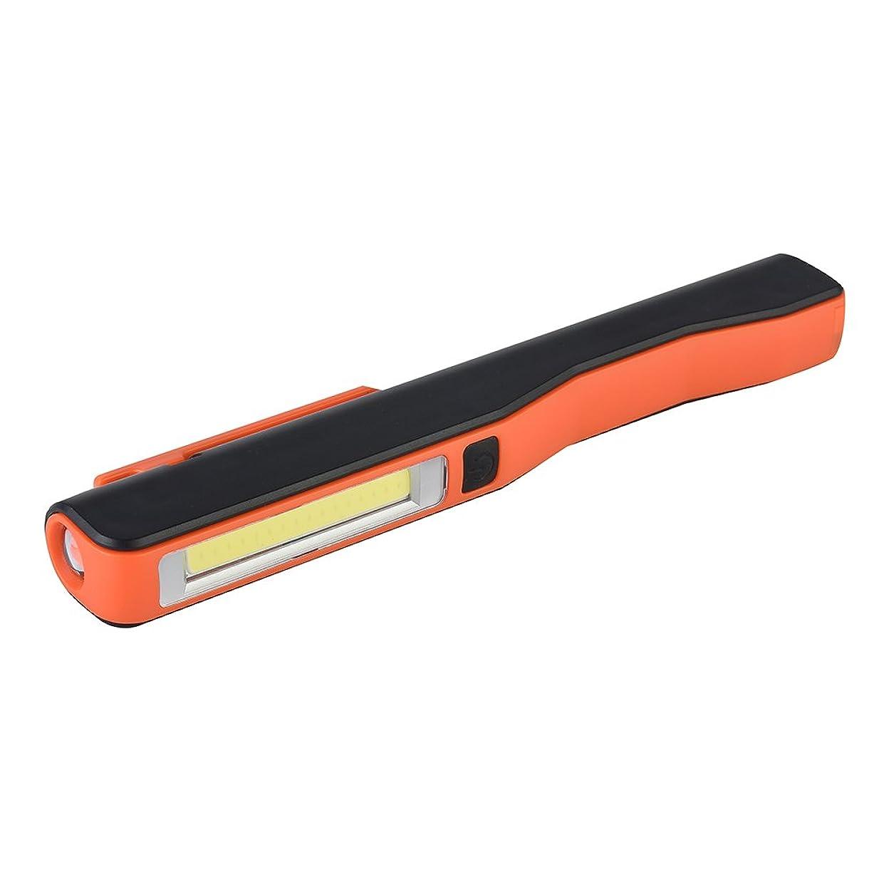 奇妙なマカダムタンザニアRaiFu LEDライト 屋外 COB LEDライト警告と緊急 クリップランプ USB充電式 キャンプライト オレンジ