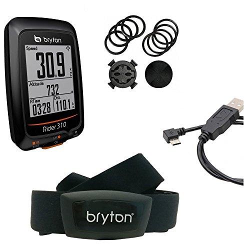 Bryton Rider 310H GPS Ciclismo, Negro, Talla Única