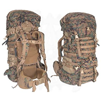 Military Outdoor Clothing Never Issued U.S G.I USMC MARPAT Large ILBE Complete Field Pack with Lid and Hip Belt