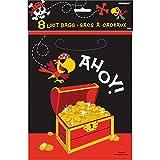 Unique Party - 40503 - Pochettes Cadeau Fête de Pirates, Paquet de 8