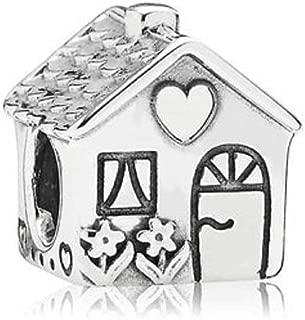 Sweet House Heart Love Charms fit Pandora Charms Bracelets