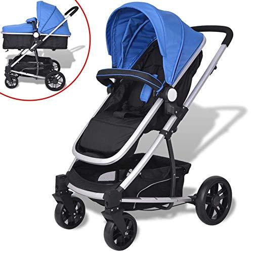 vidaXL Poussette 2-en-1 Landau Pliable Bébé Enfant Voiture Siège contre UV