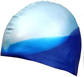 Dreamslink Swim Cap, Comfortable Solid Silicone Swim Caps Fit for Long Hair and Short Hair, Swimming Cap for Men Women Adult Youths