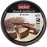 Zenker Springform  20 cm, Backform mit Antihaftbeschichtung, runde Kuchenform mit Flachboden (Farbe: schwarz), Menge: 1 Stck