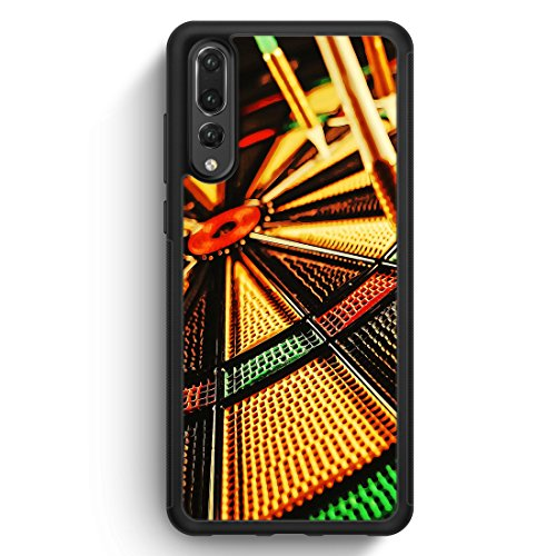 Darts - Silikon Hülle für Huawei P20 Pro - Motiv Design Sport - Handyhülle Schutzhülle Cover Case Schale