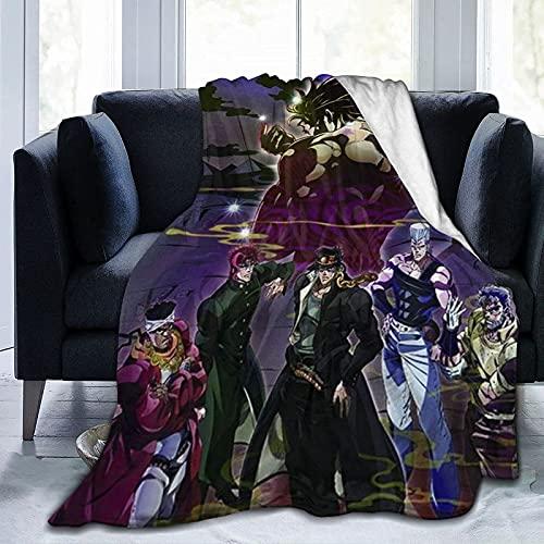 DSZQTT Jojos Bizarre-3 - Coperta leggera per letto, divano, poltrona, soggiorno, 127 x 101,6 cm