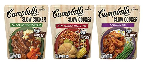 Campbell's Slow Cooker Sauces, Variety Pack, 13 oz. (Pack of 6)