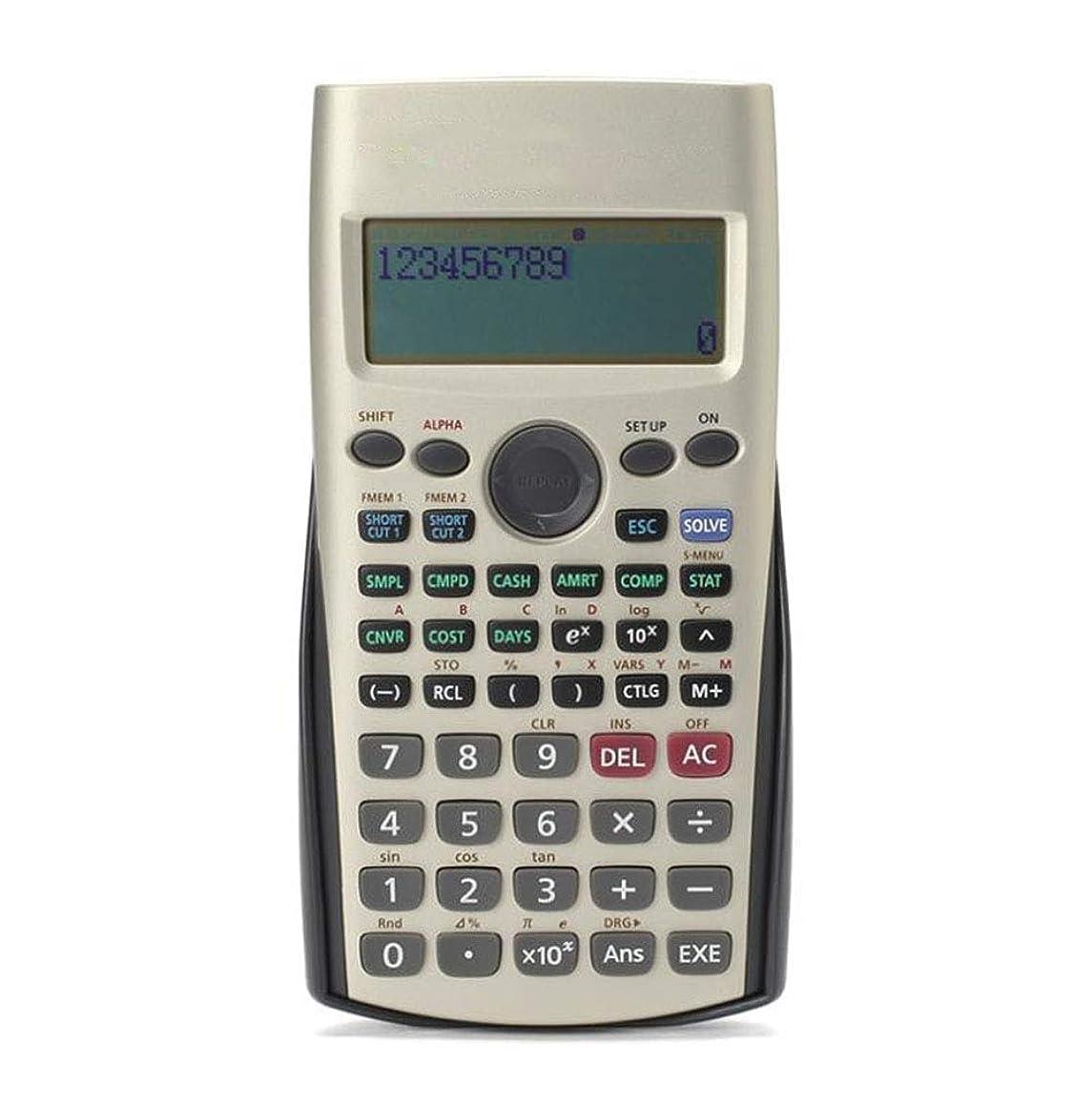露出度の高いスリム引っ張る電卓 学生 サイエンス計算機 12ビット 大画面表示 学生計算 関数計算 金属パネル 金融試験