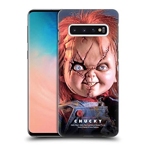 Head Case Designs Offizielle Bride of Chucky Puppe Schluessel Kunst Harte Rueckseiten Handyhülle Hülle Huelle kompatibel mit Samsung Galaxy S10