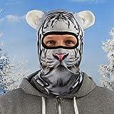 Beardo - Pasamontañas Original HD, máscara de esquí, protección contra el frío, protección Facial, máscara de tormenta (Tigre Nove)