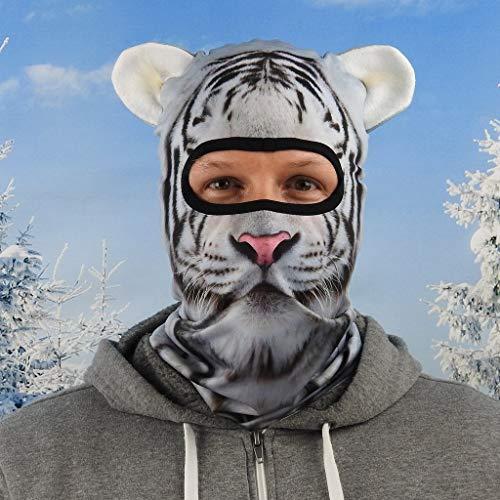 Beardo ® Original Sturmhaube HD | Skimaske, Kälteschutz, Gesichtsschutz, Sturmmaske (Snow Tiger)
