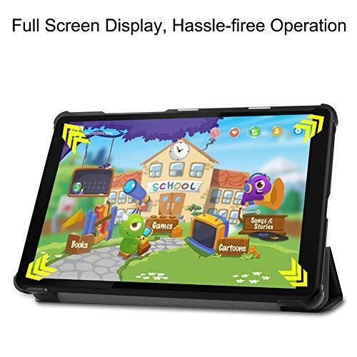 NUPO Hülle für Lenovo Tab M8-HD 2019/TB-8505F/TB-8505X, Ultra Slim Cover Schutzhülle PU Lederhülle mit Standfunktion, Kompatibel für Lenovo Tab M8 Tablet PC, Schwarz