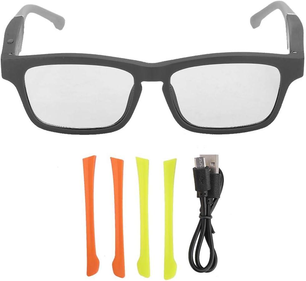 zhuolong USB Smart Earphone Glasses Wireless Bluetooth 5.0 Polarized Music Call Earphone Sunglasses(Gray)